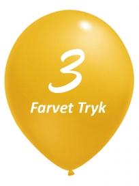 Balloner med 3 Farvet tryk