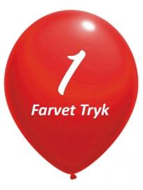 Balloner med 1 Farvet tryk
