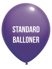 Standard balloner 1 Farvet tryk