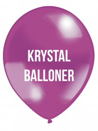 Krystal Balloner 1 farvet tryk