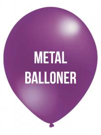 Metal balloner 1 Farvet tryk