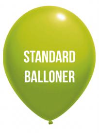 Standard balloner 2 Farvet tryk