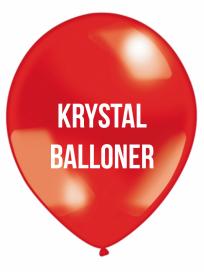Krystal Balloner 3 farvet tryk