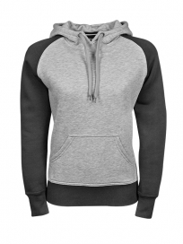 TeeJays Two-tone Hooded Sweatshirt Dame