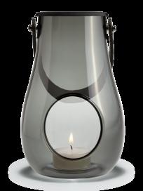 Holmegaard - Lanterne, smoke, 16 cm