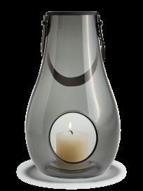 Holmegaard - Lanterne, smoke, 29 cm