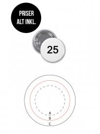Rundt Badge Med Nål Ø25mm