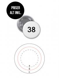 Rundt Badge Med Nål Ø38mm