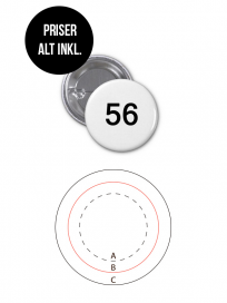Rundt Badge Med Nål Ø56 mm