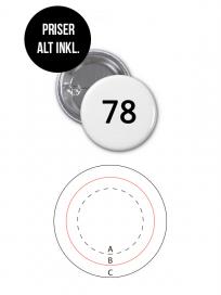 Rundt Badge Med Nål Ø78mm
