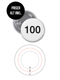 Rundt Badge Med Nål Ø100mm