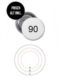 Rundt Badge Med Nål Ø90mm