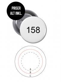 Rundt Badge Med Nål Ø158mm