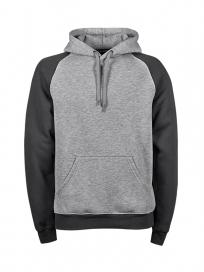 TeeJays Two-tone Hooded Sweatshirt Herre