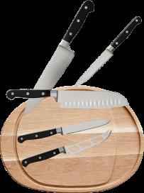 Knivsæt og Skærebræt