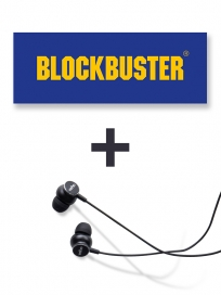 Blockbuster film & Veho Høretelefoner in ear