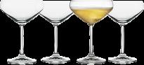 Lyngby Glas Champagneskåle 8 stk