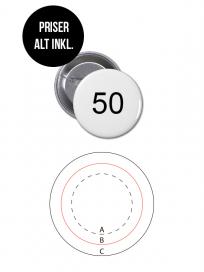 Rundt Badge Med Nål Ø50mm