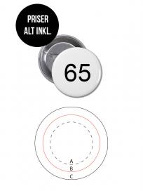 Rundt Badge Med Nål Ø65mm