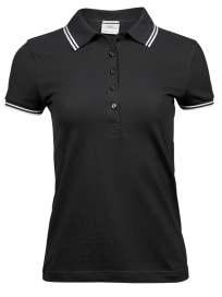 Tee Jays Ladies Luxury Stripe Stretch Polo