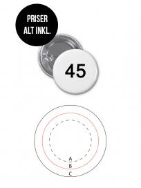 Rundt Badge Med Nål Ø45mm