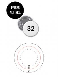 Rundt Badge Med Nål Ø32mm