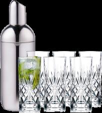 Nuance Shaker og Lyngby Glas Barsæt